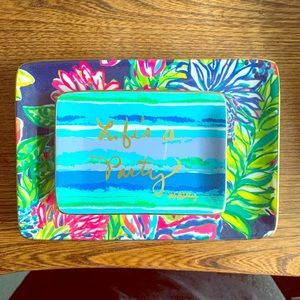Lilly Pulitzer 2 Piece Jewelry Tray